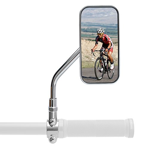 Street Bikes Mirrors (TOPCABIN A Pair of New Design 5 Colors Available Motorcycle Rear View Mirror (Silver))