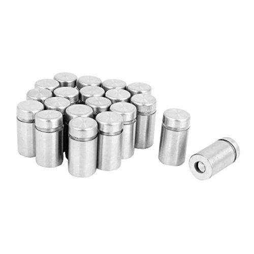 JDYYICZ 20 Pcs Stainless Steel Advertising Nails Glass Wall Connector Standoff 12mmx25mm (Glass Advertising)