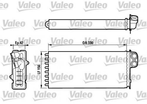 Valeo 812128 Wä rmetauscher, Innenraumheizung
