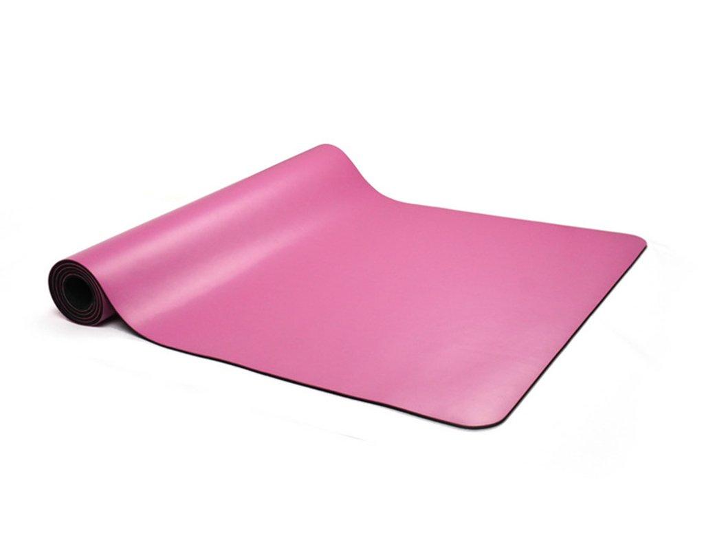 LQQGXL Tappetino da Yoga in Gomma Naturale, Tappetino da Yoga per Tappetino Antiscivolo Professionale (colore   rosa, Dimensioni   180  60  0.5cm)