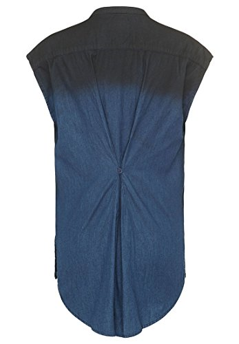 Lunghe Khujo Donna Maniche Dunkelblau Camicia Basic q6zw67t