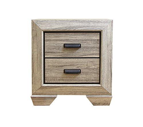 Acme Furniture ACME Lyndon Weathered Gray Grain Nightstand by Acme Furniture