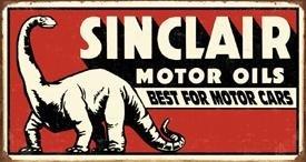 Sinclair Dinosaur Tin Sign - Sinclair Oil Sign