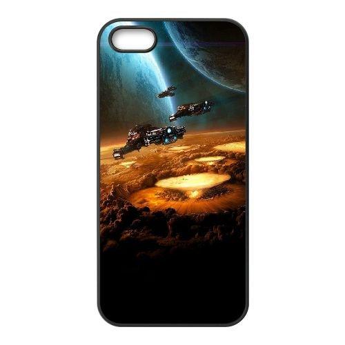 Blizzard coque iPhone 5 5S cellulaire cas coque de téléphone cas téléphone cellulaire noir couvercle EOKXLLNCD22270