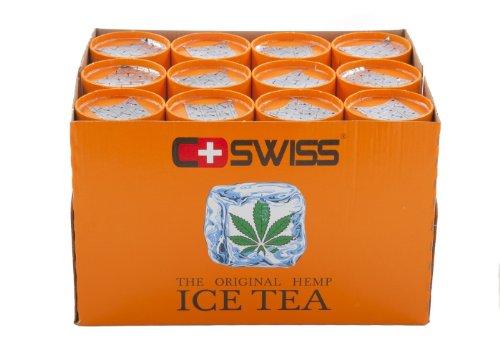 CSWISS Cannabis Ice Tea, Hanf Eistee ,Erfrischungsgetränk, Eis Tee, Hemp, Dose, 12 Dosen, 12 x 250 ml