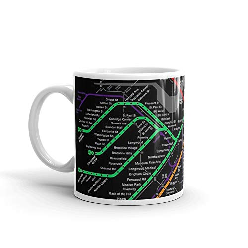MBTA Boston Subway - The T 11 Oz Ceramic