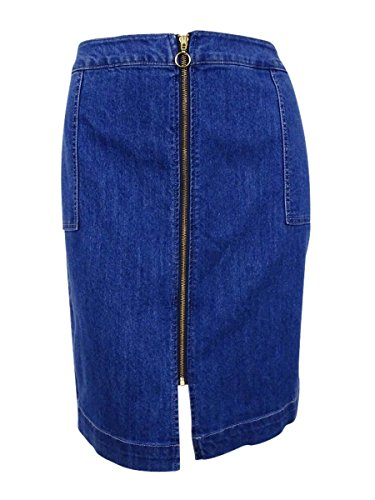 (Style & Co. Women's Plus Size Zip-Front Lake Wash Denim Skirt (18W, Lake))