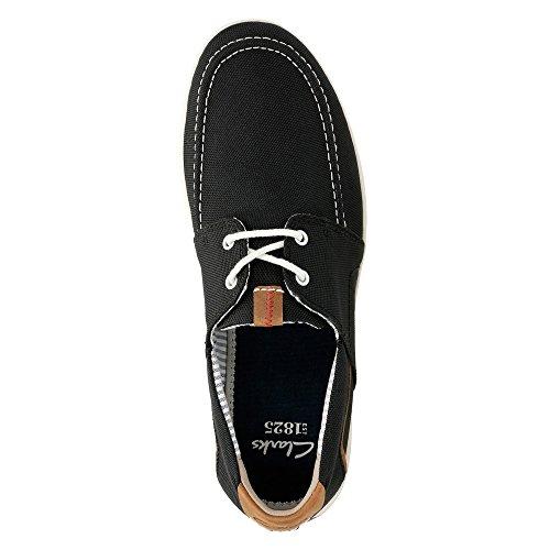 Clarks de hombre, Norwin Go Lace Up Zapatos Negro, sintético