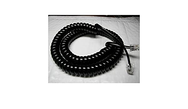mitel / inter-tel axxess black 12' ft handset phone cord handset phone cord  8000 series by diy-bizphones: amazon ca: electronics
