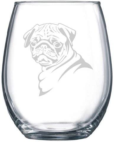 Amazon Com Personalized Pug Dog Lover Pug Owner Gift Wine Glass Wine Glasses