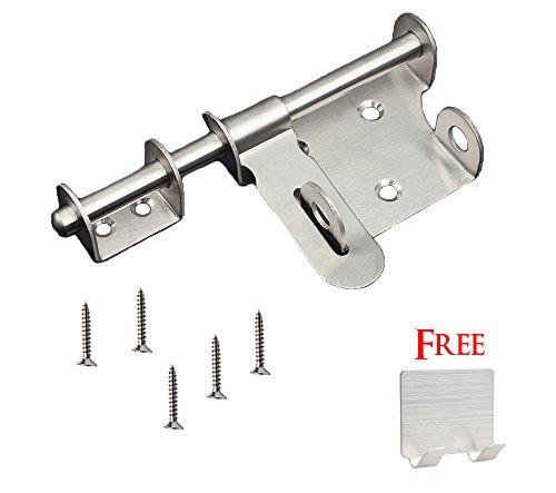 NELPLA Stainless Steel Door Security Latch Hasp Barrel Bolt Set (6