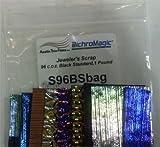 1 Lb Dichromagic Jeweler's Scrap Dichroic Glass Coe96 Black Fusible Dc111