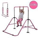 Slsy Gymnastics Bars Kids Kip Training Bars for Home, Folding Horizontal Bars with Adjustable Height, Practice Bar Gymnastic for Kid, Child, Girls, Boys