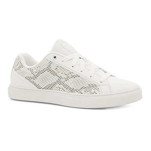 Fila Womens Amalfi Snake Mesh Moda Sneakers Bianco, Bianco, Bianco