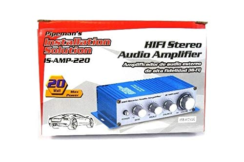 Amazon.com: Pipemans Installation Solution 2-Pack 2 Channel Stereo PA Mini Amplifier 4 to 16 Ohm 20 Watt 3.5 Aux Input USB: Automotive