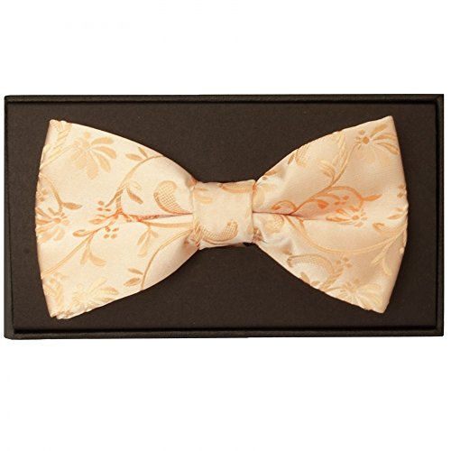 Bow Ties Mens Handmade Tie Pocket us Square Floral Peach R Set and FYFqS6
