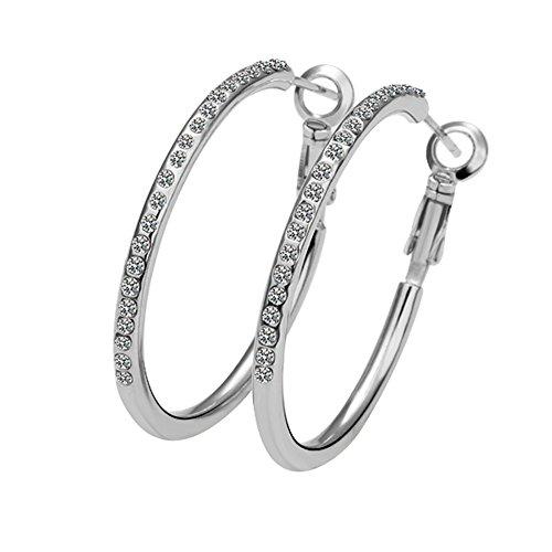 18k Hammered Hoop Earrings - 6