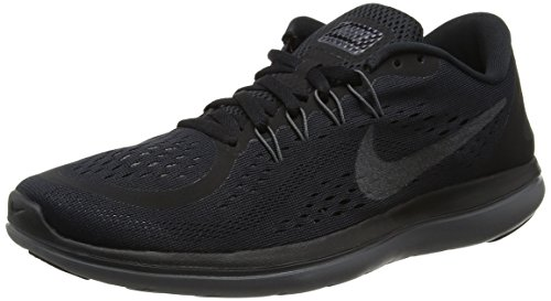 Nike Women's Flex 2017 RN Running Shoe Black/Metallic Hematite/Anthracite/Dark Grey Size