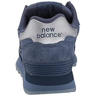 New Balance Women's 515 V1 Sneaker, Vintage Indigo/Deep Porcelain Blue/Silver Metallic, 5 W US