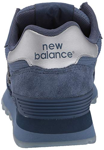 New Balance Women's 515 V1 Sneaker, Vintage Indigo/Deep Porcelain Blue/Silver Metallic, 7.5 M US