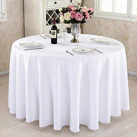 JYMJL Mantel de hotel de tela rectangular para conferencias, color rosa, arroz, blanco, vino, rojo, mantel de color sólido, mesa redonda