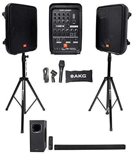 "JBL EON208P Portable PA System w/8"" Speakers+Mixer w/Bluetoo"