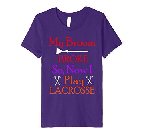 Kids My Broom Broke So I Play Lacrosse Halloween Lacrosse Shirt 10 (Two Broke Girls Halloween Costume)