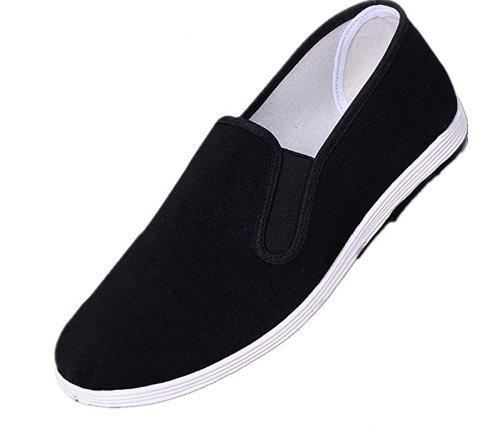 Tai Goma Negro Suela Chinos Pekín De Zapatos Viejos Fu Kung Unisexo Tradicionales Apika Chi qZawTx