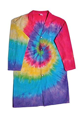 United Scientific Tie Dye Lab Coat, Adult Small (Tie Coat Dye Lab)