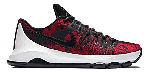 Nike Menns Kd 8 Basketball Sko Svart / Svart-gym Rød-smmt Hvit