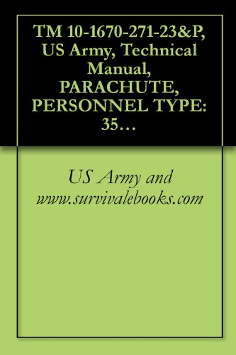 TM 10-1670-271-23&P, US Army, Technical Manual, PARACHUTE, PERSONNEL TYPE: 35-FOOT DIAMETER, T-10B TROOP BACK PARACHUTE ASSEMBLY, NSN 1670-00-591-0720, 1988,