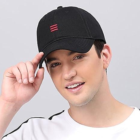 GUYOULY XL Gorra de béisbol Summer Solid Color Big Head Sombrero ...
