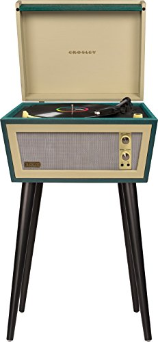 Crosley CR6231D-GR Sterling Portable Turntable with Aux-In and Bluetooth, Green & Cream