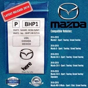 LATEST 2017 Mazda Navigation SD Card Map Chip GPS, Version BHP166EZ1F, for 2015 2016 2017 Mazda 3, 6, CX-3, CX-5, CX-9, Includes 3 years of FREE updates directly from ()