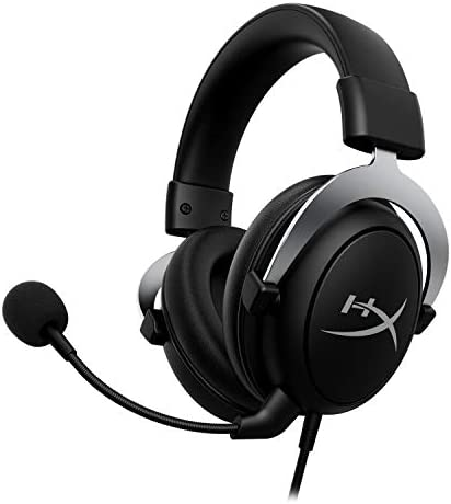 HyperX CloudX, Official Xbox Licensed Gaming Headset, Compatible with Xbox One and Xbox Series X|S, Memory Foam Ear Cushions, Detachable Noise-Cancelling Mic, in-line Audio Controls, Silver