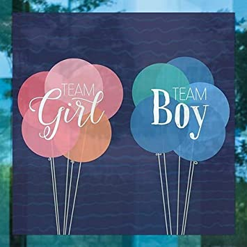 Brother or Sister Clear Window Cling 30x20 CGSignLab Inner CircleGender Reveal