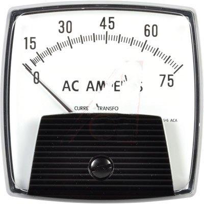 Yokogawa Corporation of America 250340LSPB , AC Ammeter; Transformer Rtd; IronVane/Pivot&Jewel; 25-500Hz; New Big Look; 3.5 in; 75A