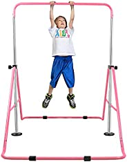 YEEGO Expandable Gymnastics Bar, Folding Horizontal Kip Bars Junior Premium Gymnastic Equipment Monkey Climbin