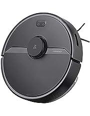 Roborock S6 Pure zuig- en dweilrobot, zuigvermogen 2000 Pa, 180 min batterijduur, 460 ml stofreservoir, 180 ml watertank, 69 dB volume, adaptief routealgoritme, app-/spraakbesturing, zwart