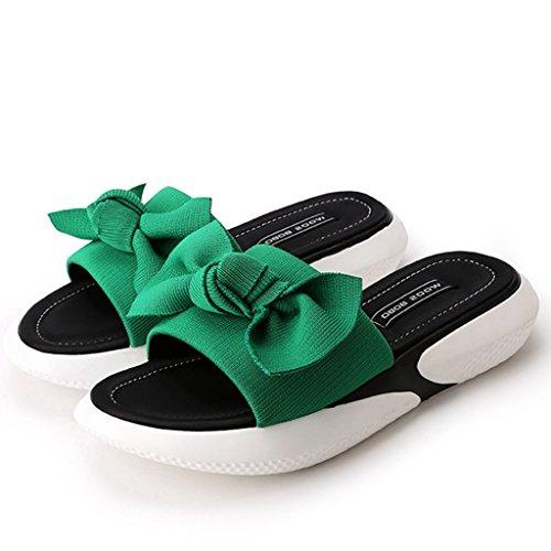 Sandal Peep Wedges On Toe Sandals Comfort Platform Sport Slip Slipper Green GIY Slide Heeled Women's gc4SSyt