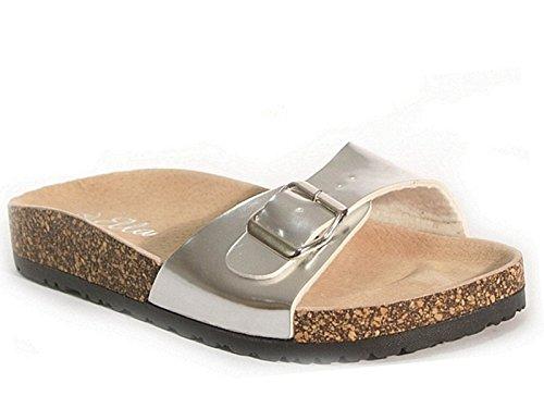 SFO - Sandalias de vestir de Material Sintético para mujer plata