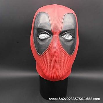 Lanyifang Deadpool Máscara Disfraz Cabeza Cara Casco Película ...