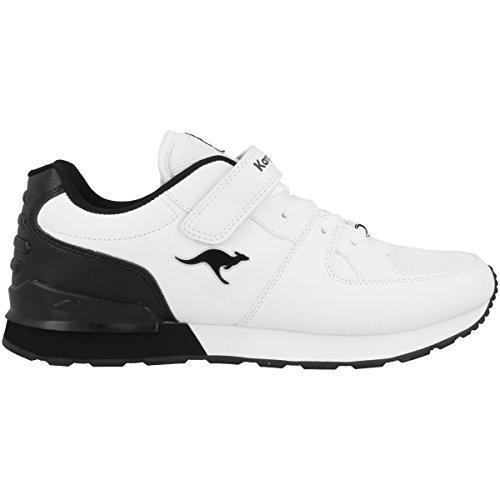 KangaROOS Unisex K-Jog VI Kinderschuhe white-black (16053-005)