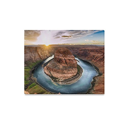 InterestPrint Horseshoe Bend Grand Canyon National Park Colorado River Canvas Prints Wall Art Stretched and Framed Abstract Canvas Paintings for Wall and Home Decor, 20