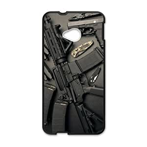 Canting_Good Weapons ammo guns Custom Case Shell Skin for HTC One M7(Laser Technology)
