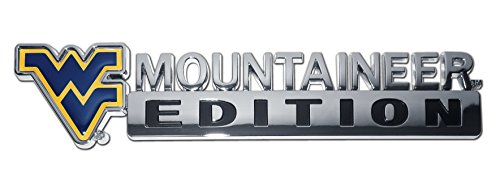 Elektroplate West Virginia Mountaineers Mountaineer Edition Metal Auto Emblem (Officially Licensed)