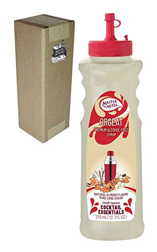 Master of Mixes Cocktail Essentials Orgeat Syrup, 375 ML Bottle (12.7 Fl Oz), Individually Boxed in Ecommerce Protective Packaging