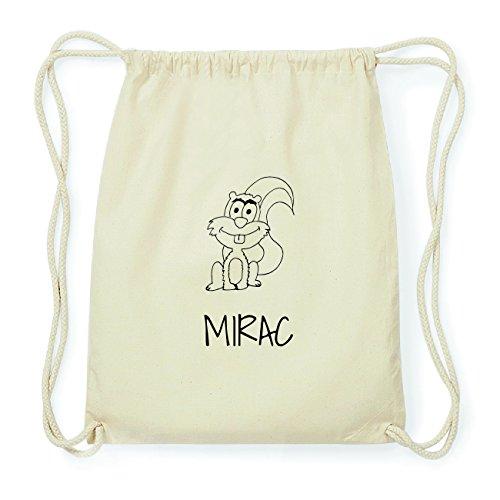 JOllipets MIRAC Hipster Turnbeutel Tasche Rucksack aus Baumwolle Design: Eichhörnchen 1dtPLnGloN