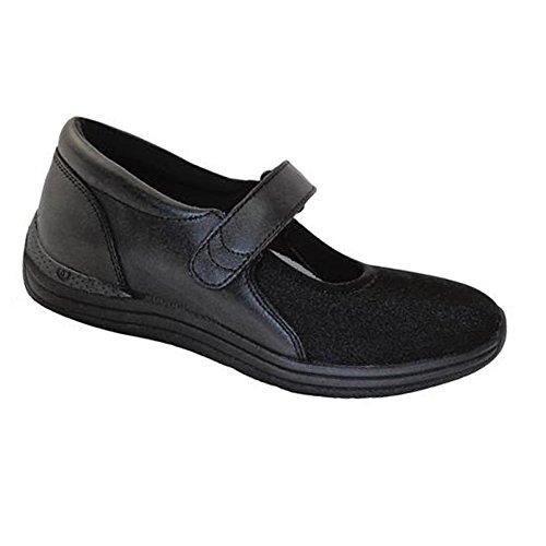 (Drew Shoe Magnolia 14326 Women's Casual Shoe: Black/Stretch Leather/Lycra 8.5 Medium (B) Velcro)