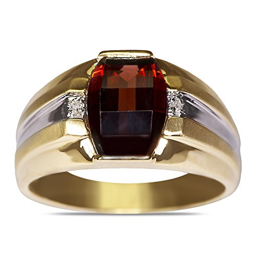 01CT-Diamond-Garnet-Mens-Ring-in-10k-Yellow-Gold-with-a-Cage-Back-Size-105